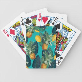 pineaple und Zitronen aquamarin Bicycle Spielkarten