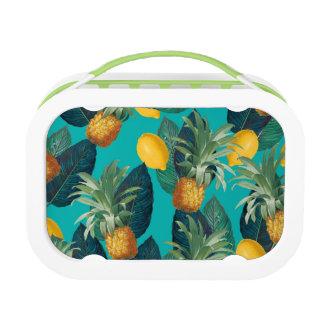 pineaple und Zitronen aquamarin Brotdose