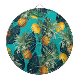 pineaple und Zitronen aquamarin Dartscheibe