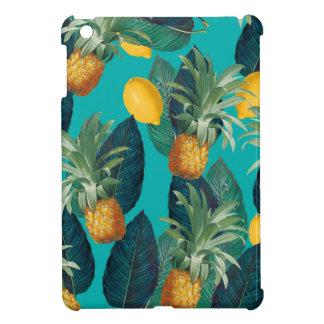 pineaple und Zitronen aquamarin iPad Mini Hülle