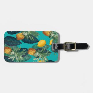 pineaple und Zitronen aquamarin Kofferanhänger