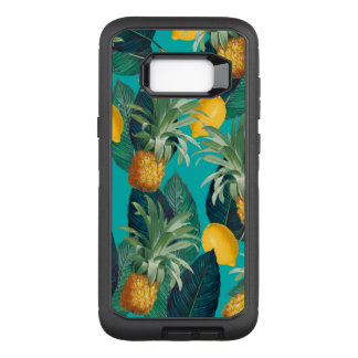 pineaple und Zitronen aquamarin OtterBox Defender Samsung Galaxy S8+ Hülle