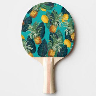 pineaple und Zitronen aquamarin Tischtennis Schläger