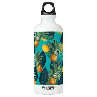 pineaple und Zitronen aquamarin Wasserflasche