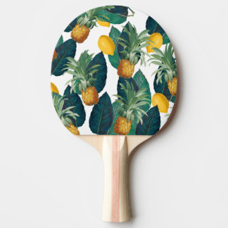 pineaple und Zitronenweiß Tischtennis Schläger