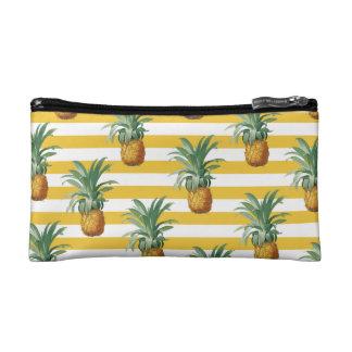 pinepples gelbe Streifen Makeup-Tasche