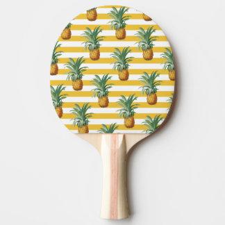 pinepples gelbe Streifen Tischtennis Schläger