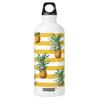 pinepples gelbe Streifen Wasserflasche
