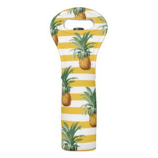 pinepples gelbe Streifen Weintasche