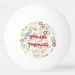 Ping Pong with circles Tischtennis Ball