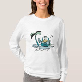 Pinguin an den Strand-T-Shirts und den Geschenken T-Shirt