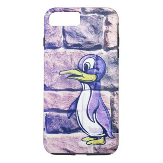 Pinguin auf einem Backsteinmauer iPhone 7 Plusfall iPhone 8 Plus/7 Plus Hülle