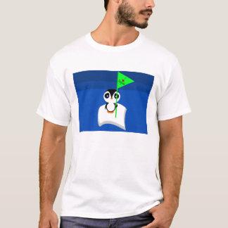 Pinguin auf Herz-Pinguin-Zeichen der T-Shirt
