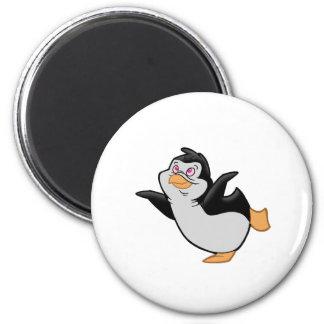 Pinguin-Ballett Runder Magnet 5,7 Cm