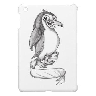 Pinguin-Band-Seiten-Tätowierung iPad Mini Hülle