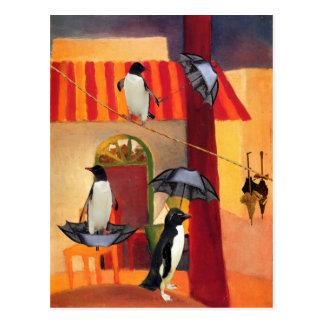 Pinguin-Café Postkarte