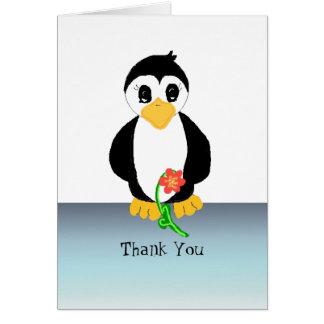 Pinguin danken Ihnen Karte