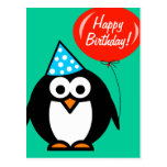 Pinguin der alles Gute zum Geburtstagpostkarte | Postkarten