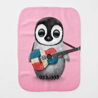 Pinguin, der Dominikanische Republik-Gitarren-Rosa Baby Spucktuch