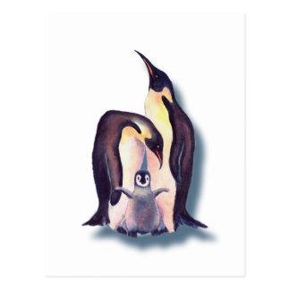 PINGUIN-FAMILIE durch SHARON SHARPE Postkarte