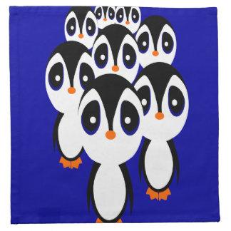Pinguin-Familie Stoffserviette