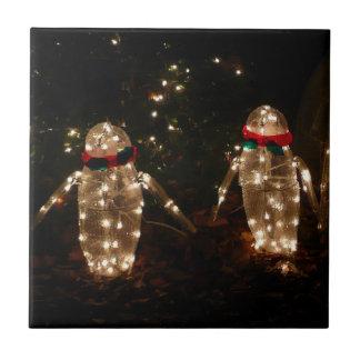 Pinguin-Feiertags-Licht-Anzeige Keramikfliese