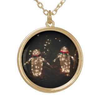 Pinguin-Feiertags-Licht-Anzeige Vergoldete Kette