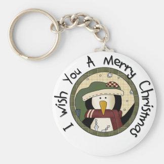 Pinguin-frohe Weihnacht-T-Shirts und Geschenke Schlüsselanhänger