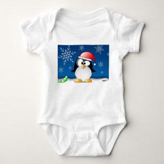 Pinguin - frohe Weihnachten und ein guten Rutsch Baby Strampler