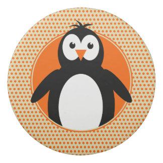 Pinguin fügen Namen auf hinteren orange Kindern Radiergummi
