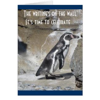 Pinguin-Geburtstags-Gruß Karte