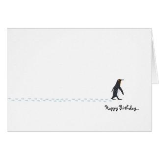 Pinguin-Geburtstags-Karte Karte