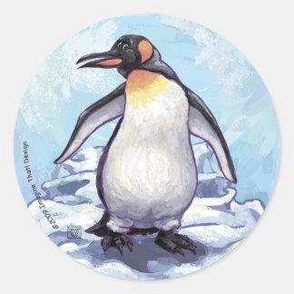 Pinguin-Geschenke u. Zusätze Runder Aufkleber