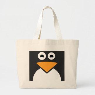Pinguin-Gesicht Jumbo Stoffbeutel