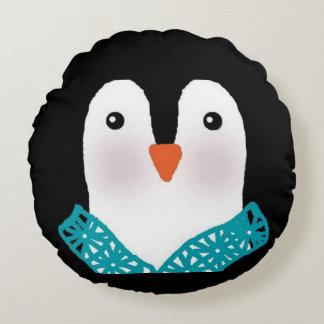 Pinguin-Gesichts-Kissen personifizieren an zurück Rundes Kissen