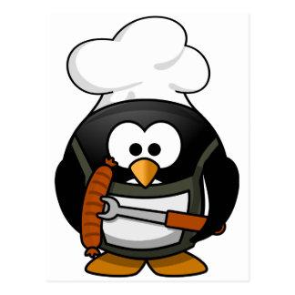 Pinguin-Grill Postkarte
