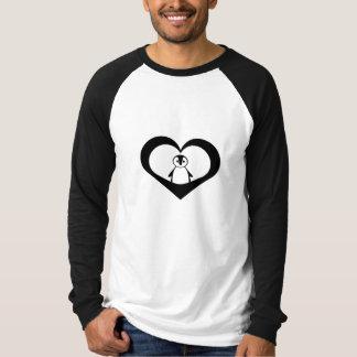 Pinguin-Herz T-Shirt