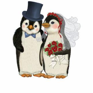 Pinguin-Hochzeit Freistehende Fotoskulptur