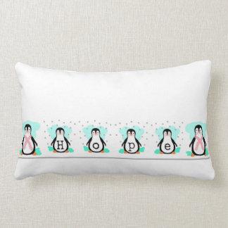 Pinguin-Hoffnunglumbar-Kissen Lendenkissen