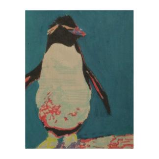 Pinguin Holzleinwand