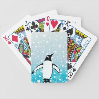 Pinguin im Schnee Bicycle Spielkarten