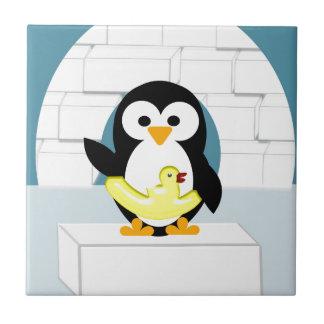 Pinguin Kleine Quadratische Fliese