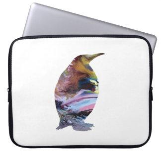 Pinguin-Kunst Laptopschutzhülle