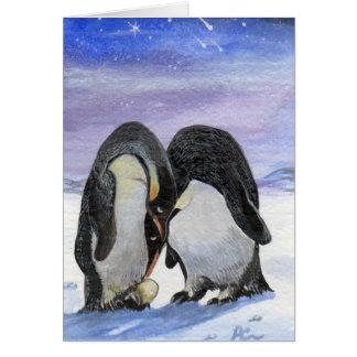 Pinguin-Kunst - meine Familie Karte