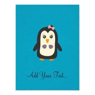 Pinguin mit Bikini 16,5 X 22,2 Cm Einladungskarte