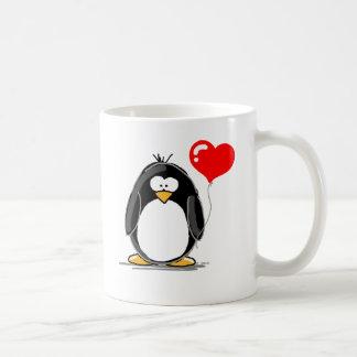 Pinguin mit einem Herzballon Kaffeetasse