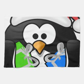 Pinguin mit Geschenken Geschirrtuch