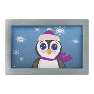 Pinguin mit Hut Rechteckige Gürtelschnalle
