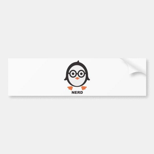 Pinguin - nerd - penguin autoaufkleber