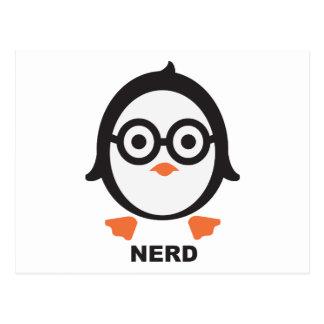 Pinguin - nerd - penguin postkarten